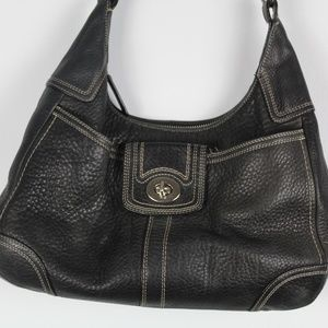 Coach Hamilton Hobo Pebbled Leather Handbag